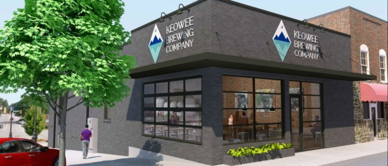 A rendering of the future Keowee Brewing Company.